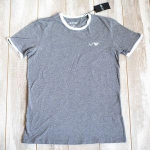 BRAND NEW - Armani Jeans Grey Tee (Size L)